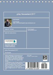 Kalenderplaner g\'day Neuseeland 2017 (Tischkalender 2017 DIN A5