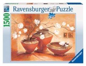 Ravensburger 16392 - Weisse Magnolien, 1500 Teile Puzzle