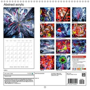 Abstract acrylic (Wall Calendar 2015 300 &times 300 mm Square)