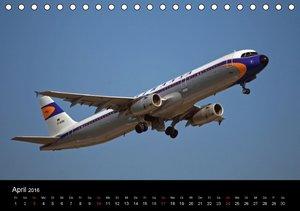 Flugverkehr (Tischkalender 2016 DIN A5 quer)