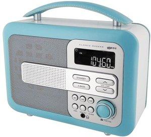Tragbares Holzradio TR21 - hellblau