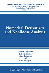 Numerical Derivatives and Nonlinear Analysis