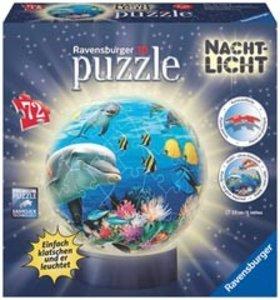 Ravensburger 12143 - Nachtlicht Unterwasser, 3D puzzleball®, 72