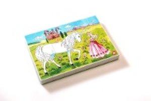 Midi-Puzzle Prinzessin mit Einhorn