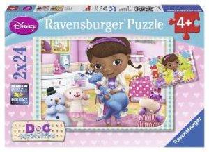 Ravensburger 09080 - Disney: Doc McStuffins, Puzzle, 2x24 Teile