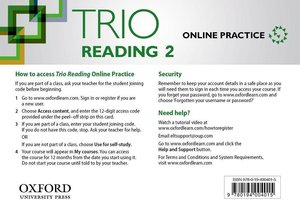 Trio Reading 2 Online Students Access Card Pack