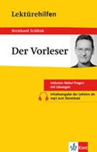 """Lektürehilfen Bernhard Schlink """"Der Vorleser"""""""