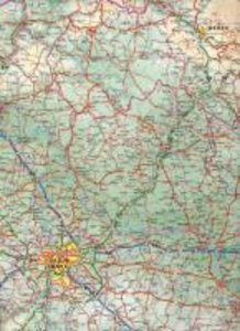 Czech Republic Travel Reference Map 1 : 370 000