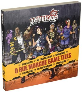 Asmodee 901840 - Zombicide Season 3, 9 Rue Morgue Game Tiles Pac
