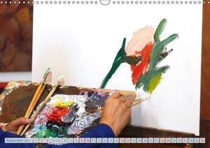 Atelierbesuch (Wandkalender 2017 DIN A3 quer)