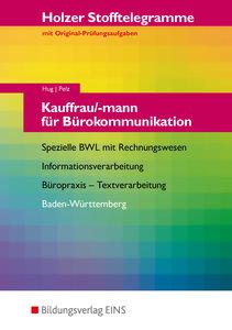 Stofftelegramm Kauffrau/-mann für Bürokommunikation