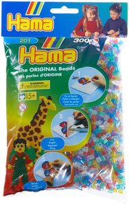 Hama 201-54 - The Original Beads, transparent, glitter, 3000 Stü