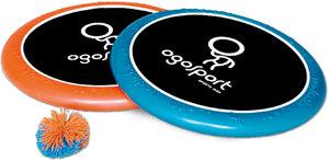 Schildkröt - Ogo Sport Set, blau-orange, 2 Scheiben je 30,5 cm