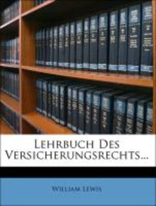 Lehrbuch Des Versicherungsrechts...