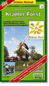 Krämer Forst und Umgebung 1 : 35 000. Radwander- und Wanderkart