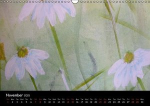 FLORAL ART Acrylic paintings (Wall Calendar 2015 DIN A3 Landscap