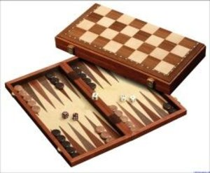 Philos 2524 - Schach-Backgammon-Dame-Set, magnetisch