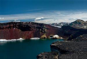 Premium Textil-Leinwand 90 cm x 60 cm quer Gletscherwasser in ro