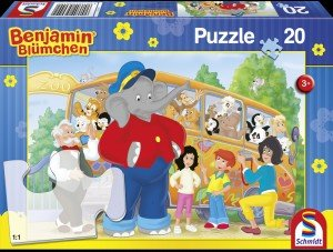 Schmidt Spiele 56049 - Benjamin Blümchen Kinderpuzzle, Zooausflu