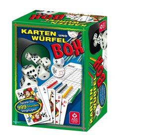 Würfel- und Kartenbox im Stülpkarton