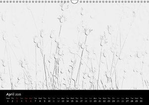Abstract in B&W (Wall Calendar 2015 DIN A3 Landscape)