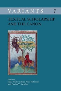 Textual Scholarship and the Canon