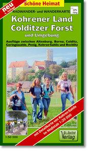 Kohrener Land, Colditzer Forst und Umgebung 1 : 50 000. Radwande