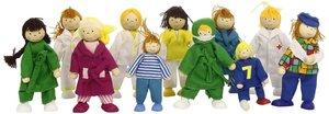 Goki 51686 - Biegepuppen Krankenhaus, 1 Set mit 11 Puppen