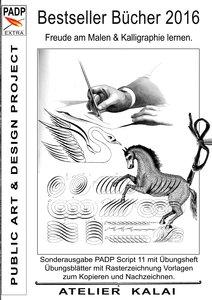 Bestseller Bücher 2016 - Freude am Malen & Kalligraphie lernen.