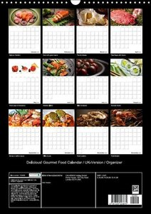 Delicious! Gourmet Food Calendar / UK-Version / Organizer (Wall