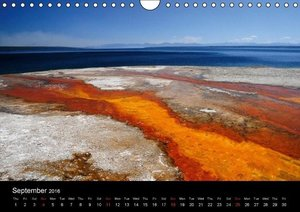 The Yellowstone National Park - UK Version (Wall Calendar 2016 D