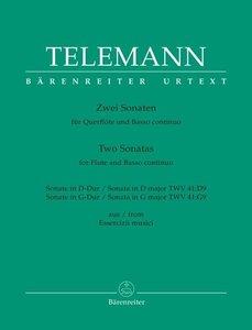 Aus den Essercizii Musici. Zwei Sonaten für Querflöte und Basso
