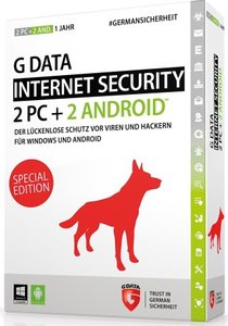 G DATA Internet Security - Internetschutz für 2PC+2ANDROID/1Jahr