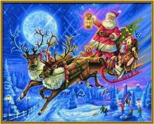 Schipper Malen nach Zahlen - Weihnachtsmann Schlitten