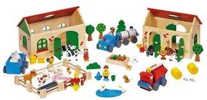 Goki 58598 - Mein Bauernhof, aus Holz, 71 Teile