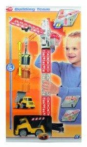 Dickie 203463337 - Kranset mit Baustellenfahrzeug