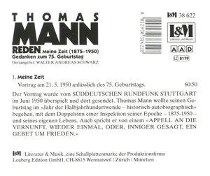 Reden 3!Meine Zeit (1876-1950),Vortrag Anlässlich