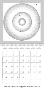 Black and white circle worlds (Wall Calendar 2015 300 × 300 mm S