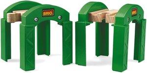 Brio 33253 - Stapelbares Brückensystem, 2 Brücken-Pfeiler/Tunnel