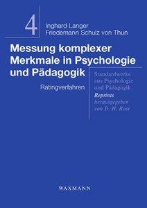 Messung komplexer Merkmale in Psychologie und Pädagogik