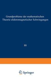Grundprobleme der Mathematischen Theorie Elektromagnetischer Sch