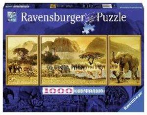 Unterwegs in Afrika. Puzzle Triptychon 1000 Teile