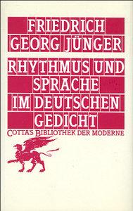 Rhythmus und Sprache im deutschen Gedicht