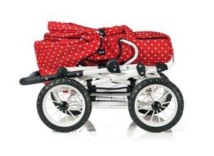 Brio 24891311 - Puppenwagen Combi, rot mit weißen Punkten