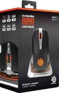 SteelSeries SENSEI Wireless Gaming Maus, silber metallic