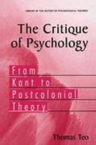 The Critique of Psychology