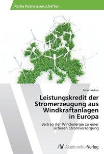 Leistungskredit der Stromerzeugung aus Windkraftanlagen in Europ