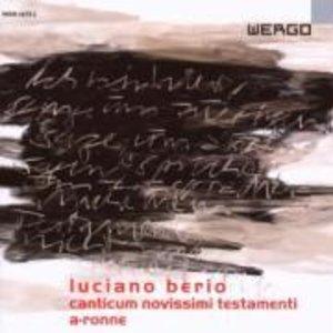 Canticum novissimi testamenti/A-Ronne