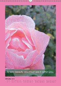 Flowerful Quoteful (Wall Calendar 2015 DIN A3 Portrait)