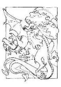 Colour me Dragons (Poster Book DIN A4 Portrait)